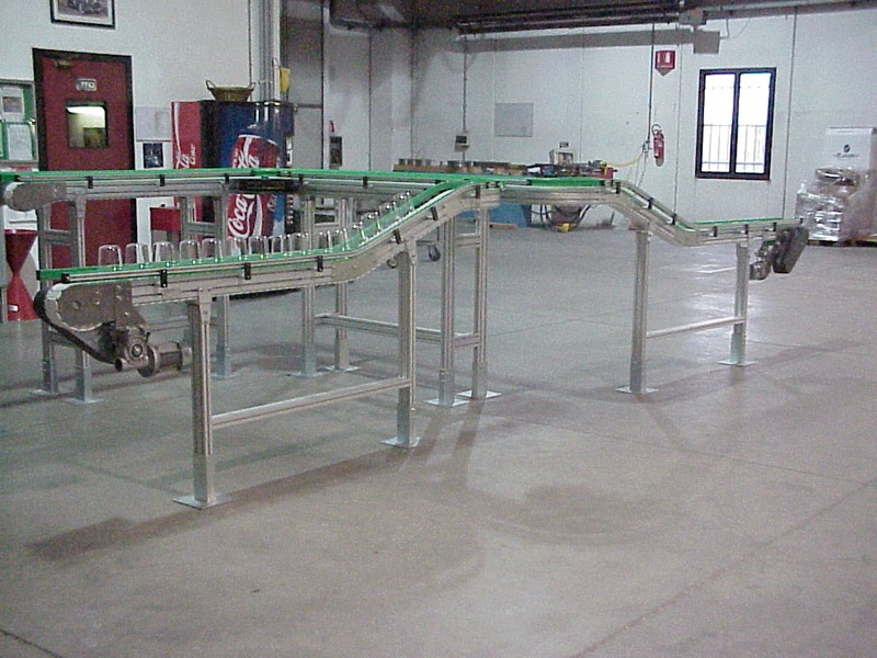Bat Modular Components System For Conveyors With Table Top Chain Aluminum Or Stainless Steel Structure